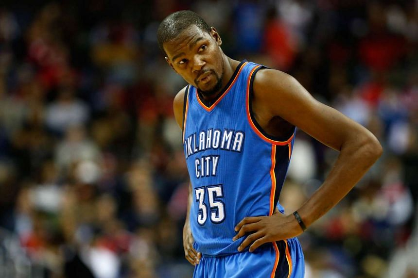 Kevin Durant limped out in the second quarter of the Thunder's 125-101 mauling of the Washington Wizards on Nov 10.
