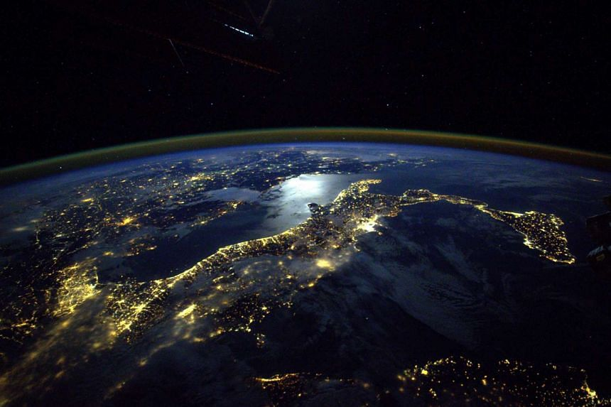 A view of Earth seen from the International Space Station.