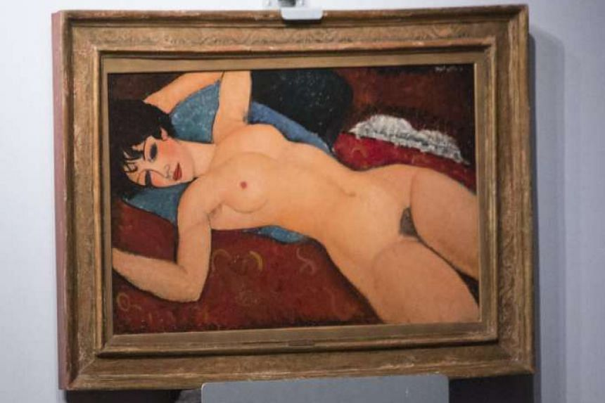 Amedeo Modigliani's Nu Couche (above) was sold to Mr Liu Yiqian at a Christie's auction in New York on Monday.
