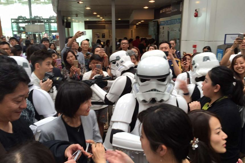 Stormtroopers at Changi Airport.
