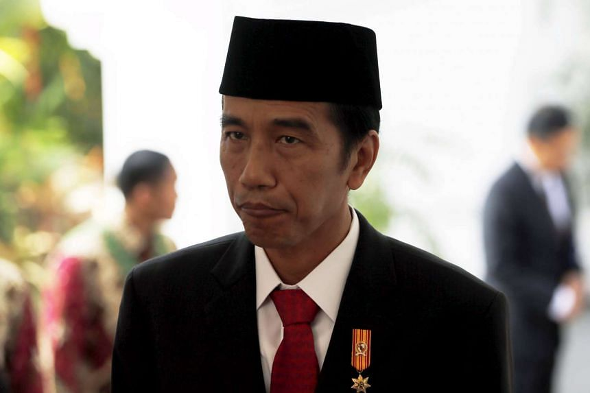 Indonesian President Joko Widodo is pictured after seeing off Danish Queen Margarethe at the presidential palace in Jakarta, on Oct 22, 2015.
