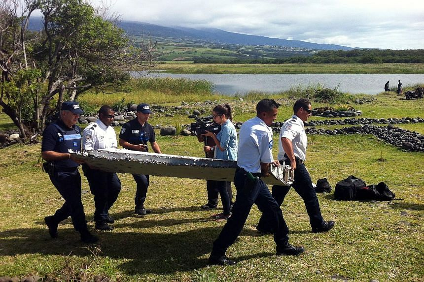 Experts want flight tracking to be made mandatory, to avoid a repeat of the MH370 tragedy. The plane remains missing but a 2m-long flaperon (left), washed up on Reunion Island more than three months ago, has since been confirmed to be from the ill-fa