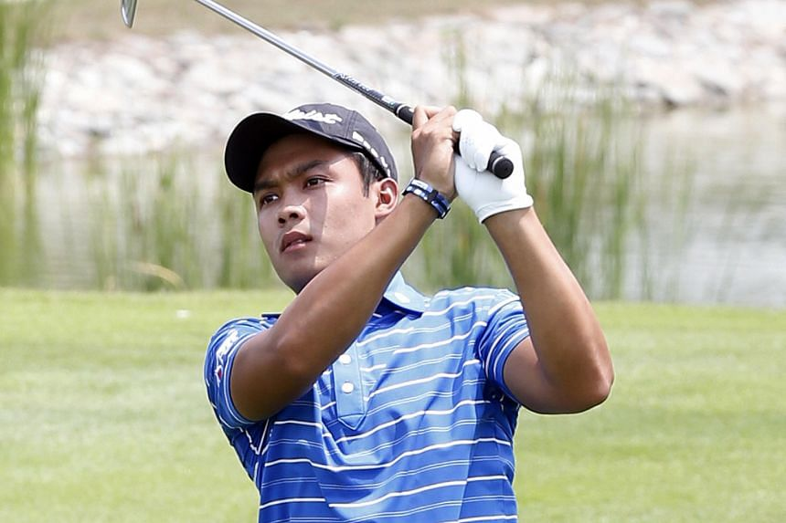 Natipong Srithong is one of four players to co-lead the inaugural World Classic Championship at Laguna National Golf and Country Club. The tournament is the only Asian Tour stop in Singapore.