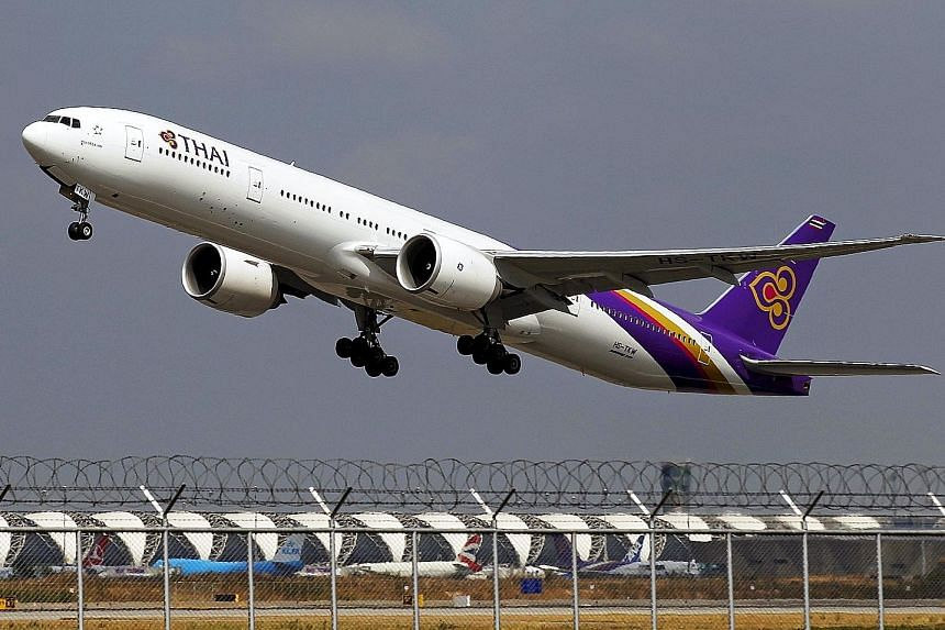 Thai Airways will cut the salaries of its top management by 10 per cent this month as part of plans to slash operating costs.