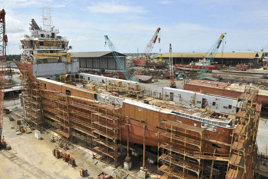 Building of a vessel at Nam Cheong's shipyard in Sarawak, Malaysia.