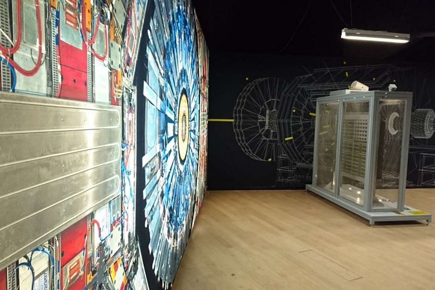 A display at the award-winning exhibition by the London Science Museum, Collider.