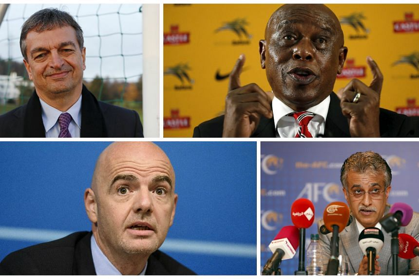 (Clockwise from top left) Champagne, Sexwale,  Infantino and Sheik Salman are approved, together with Prince Ali Al Hussein.