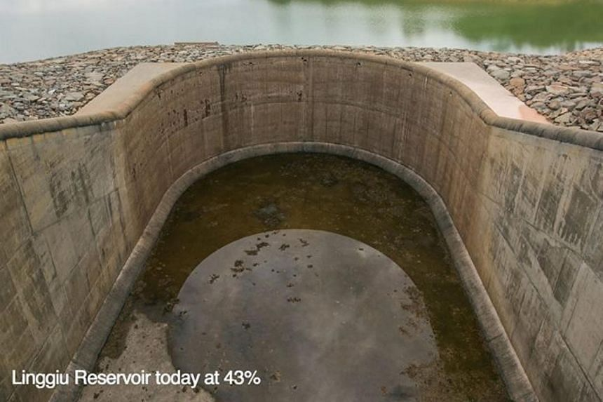 The water level dropped from 55 per cent in August to 43 per cent, an all-time low.