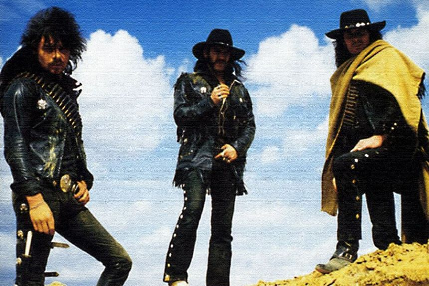 Motorhead's Ace Of Spades album cover featuring Phil Taylor (left).