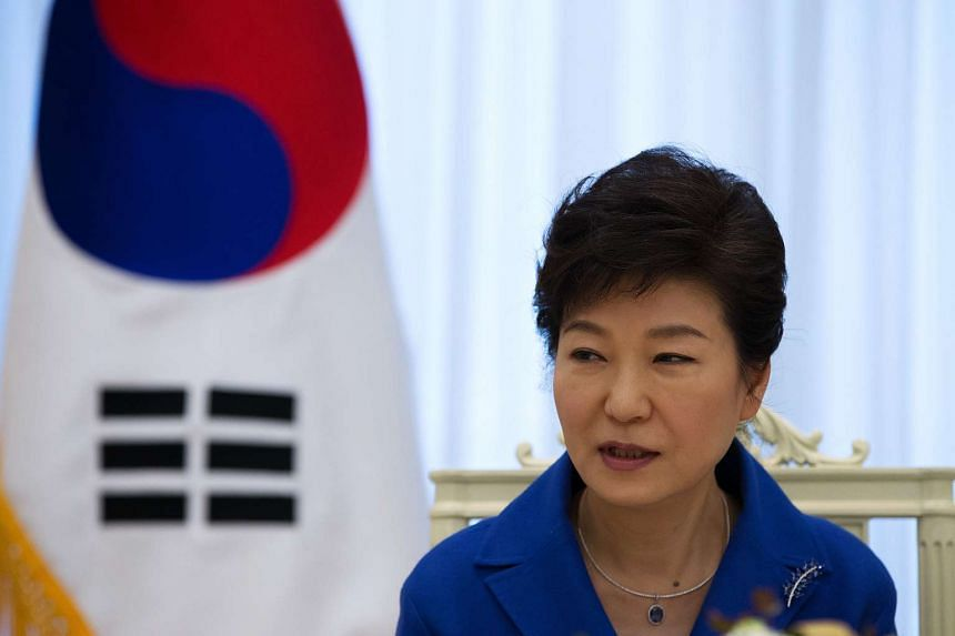 South Korean President Park Geun Hye (above) is willing to hold a summit with North Korean leader Kim Jong Un if there is a breakthrough on nuclear issues.