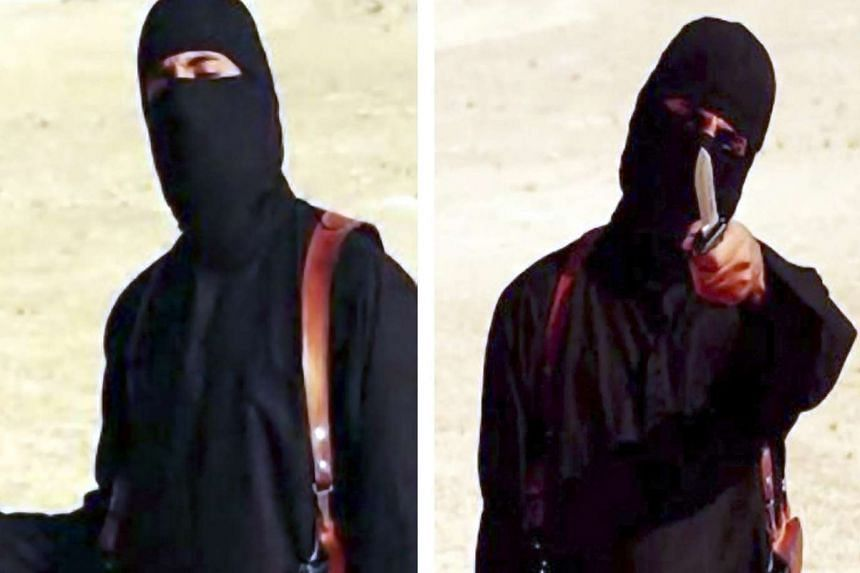 Video stills showing  'Jihadi John', identified as Briton Mohammed Emwazi.