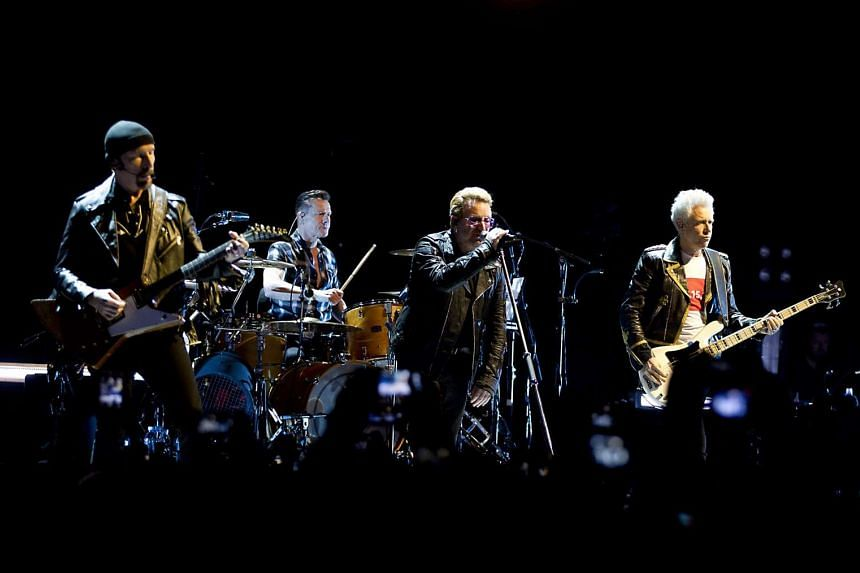 U2 performing at the Ziggo Dome in Amsterdam on Sept 8, 2015.