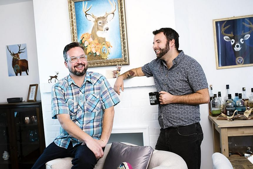 Jeffrey Cranor (above left) and Joseph Fink, creators of the podcast Welcome To Night Vale.