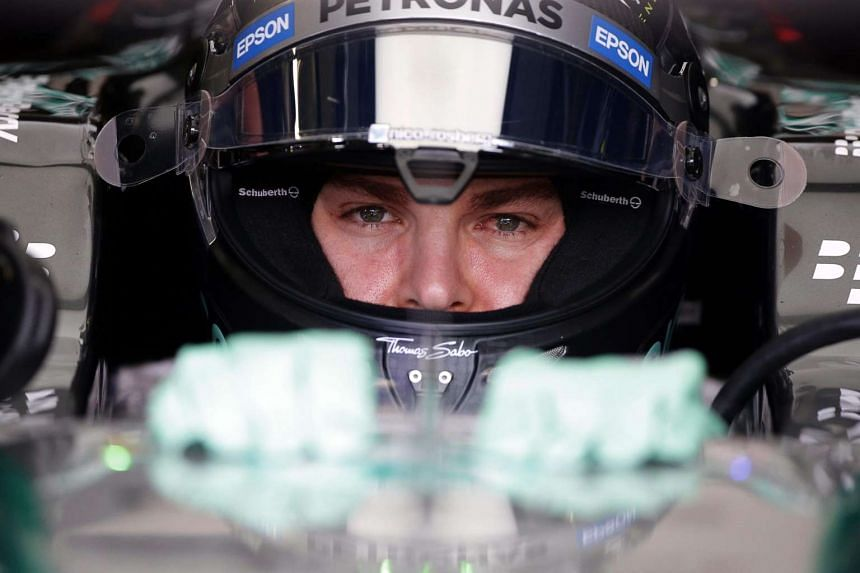 Rosberg (above) beat Hamilton by a mere 0.078 of a second.