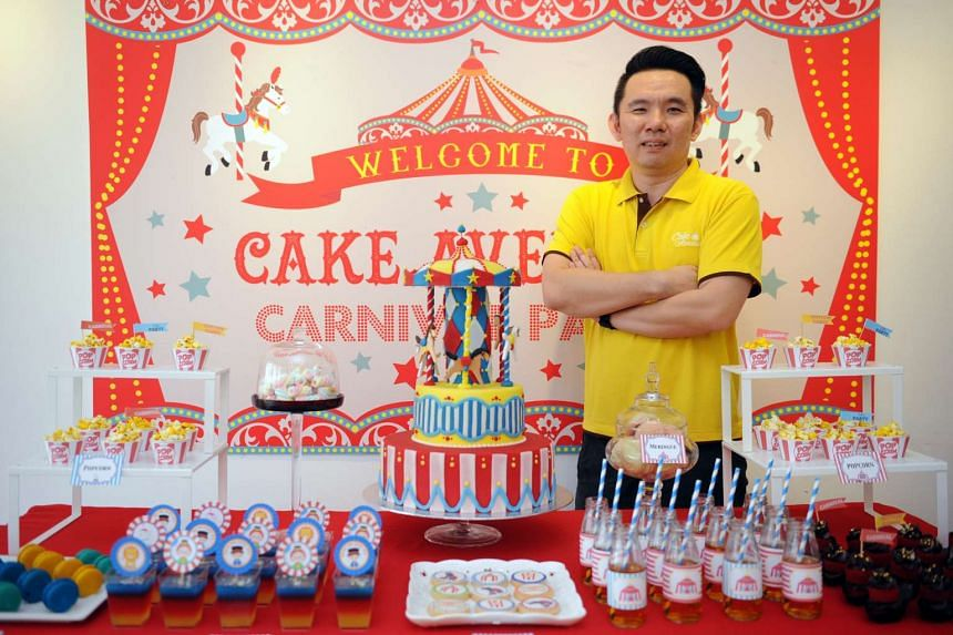 Cake Avenue has its own bakery to customise cakes for its dessert table, says owner Wong Chuan Sheng.