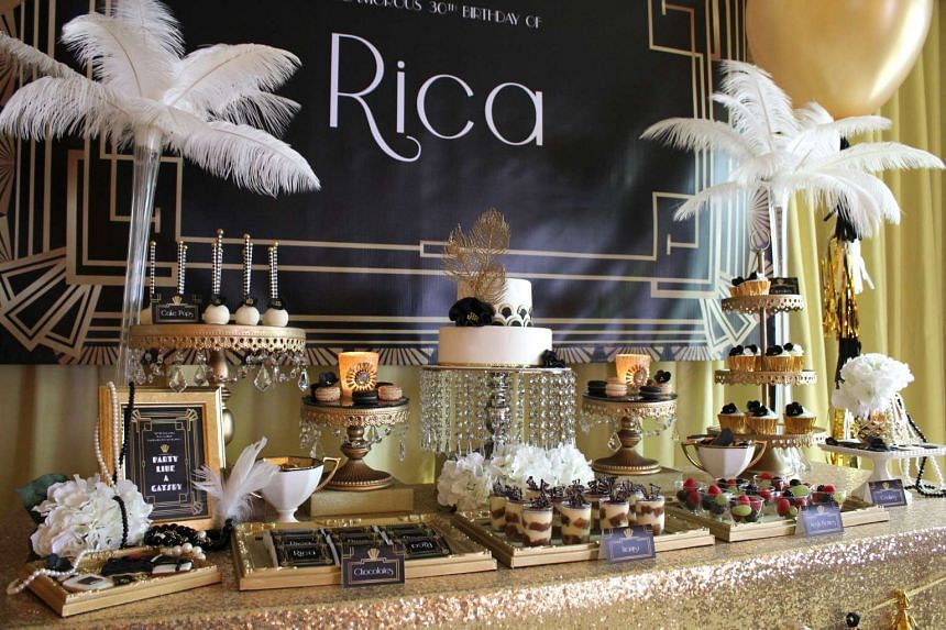 The Little Wonderland did a Great Gatsbythemed birthday party for sales manager Rica Hadayani last month.