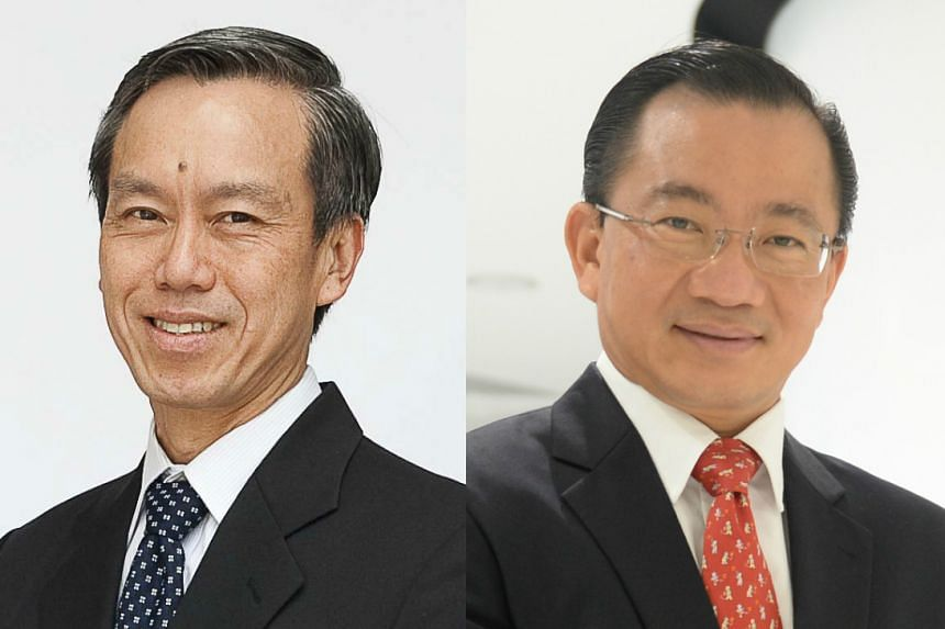 NTUC FairPrice's group CEO Tan Kian Chew (left) will step down at the end of the year, with Mr Seah Kian Peng (right) assuming the role of overall CEO.