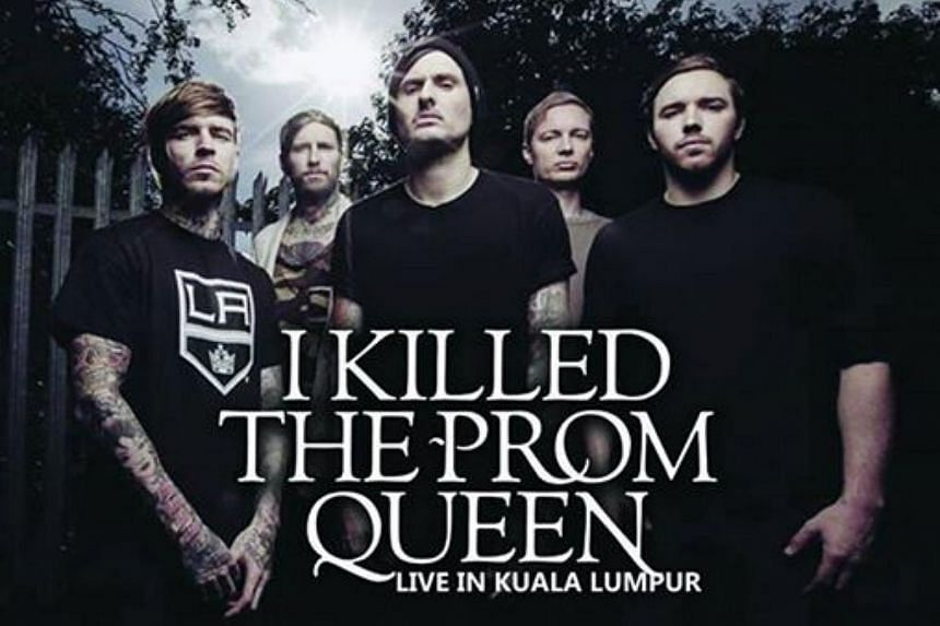 Members of the Australian metalcore band I Killed The Prom Queen.