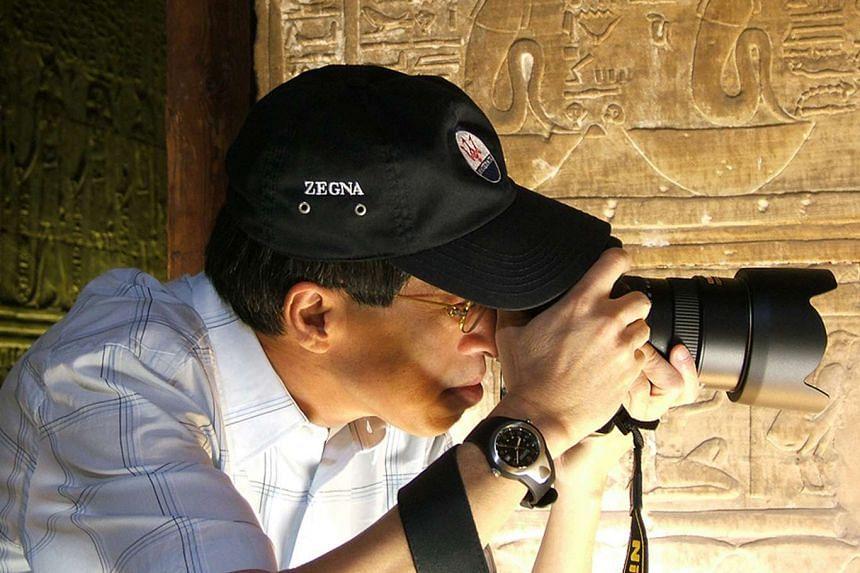 Mr Kwek Leng Joo on a photo shooting trip in Egypt in 2005.