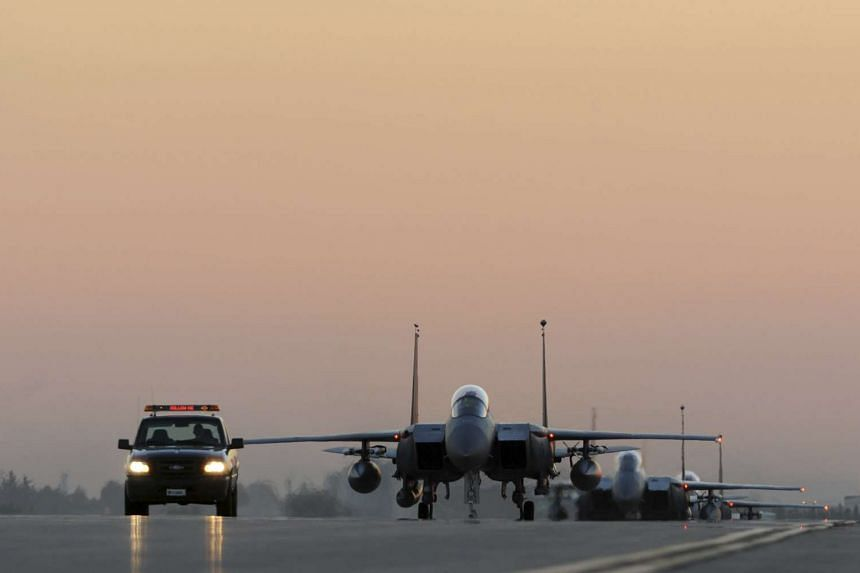 US Air Force fighter jets on anti-ISIS operations at Incirlik airbase in Turkey. Russia, the US and major EU and Middle East countries on Saturday outlined a plan for a political process in Syria leading to elections within two years.
