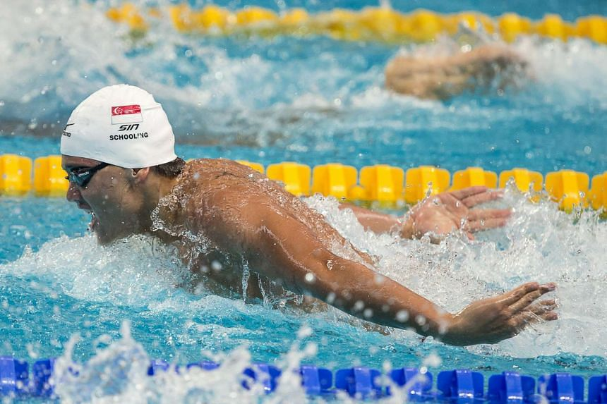Joseph Schooling swimming at the Fina World Championships in Kazan, Russia.