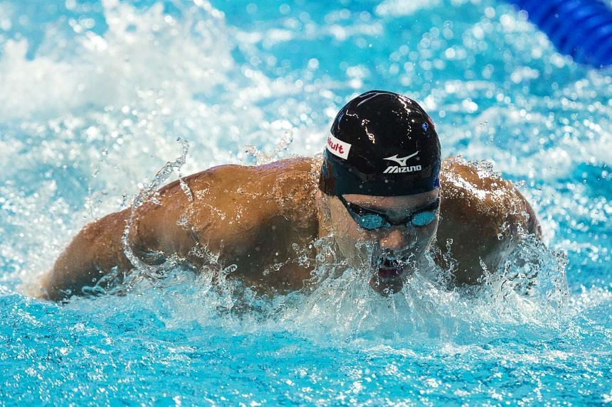 Singaporean swimmer Joseph Schooling posted the NCAA season's fastest times in two short-course events.