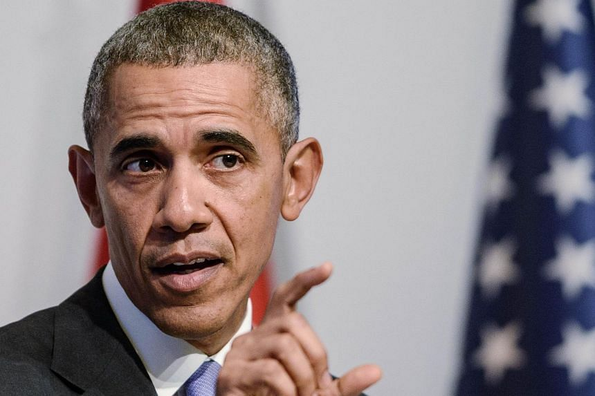 US President Barack Obama speaking at a press conference following the G20 summit in Antalya, Turkey, on Nov 16.
