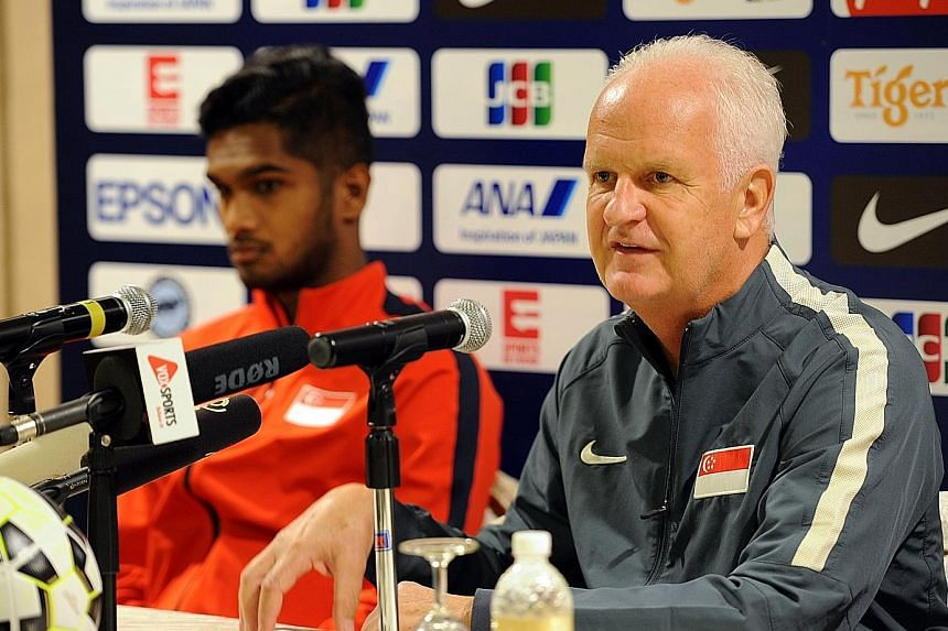 Bernd Stange, with skipper Hariss Harun, feels Singapore can beat Syria even though the track record is not good against Mideast teams.