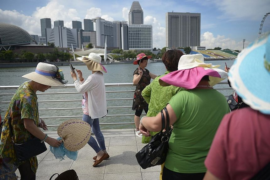 Wide-brimmed hats and sunglasses will provide protection against the sun's rays.