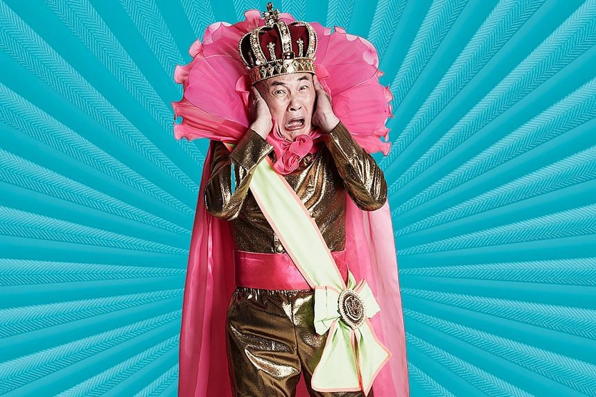 Actor Lim Kay Siu plays the titular role in The Emperor's New Clothes.