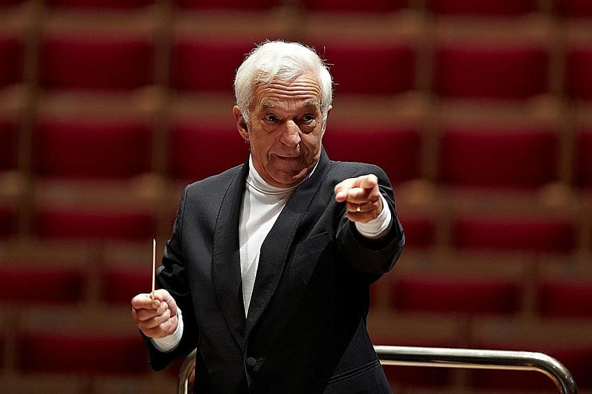 Conductor Vladimir Ashkenazy (left) is back next month to take on the works of Russian composer Sergei Rachmaninov at a concert.