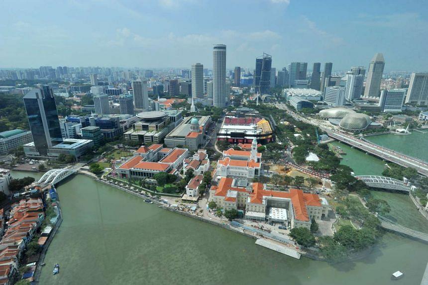 The Singapore Central Business District (CBD) skyline.
