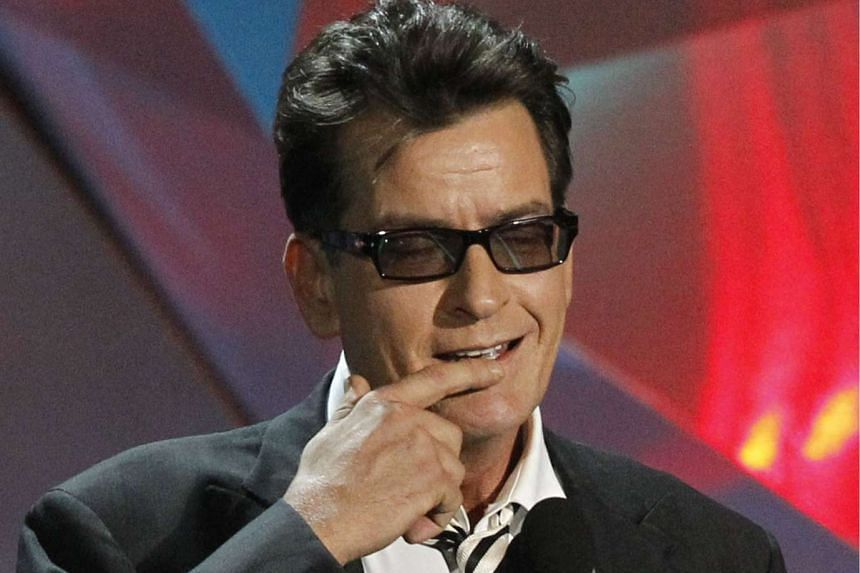 Charlie Sheen at the 2012 MTV Movie Awards in Los Angeles.