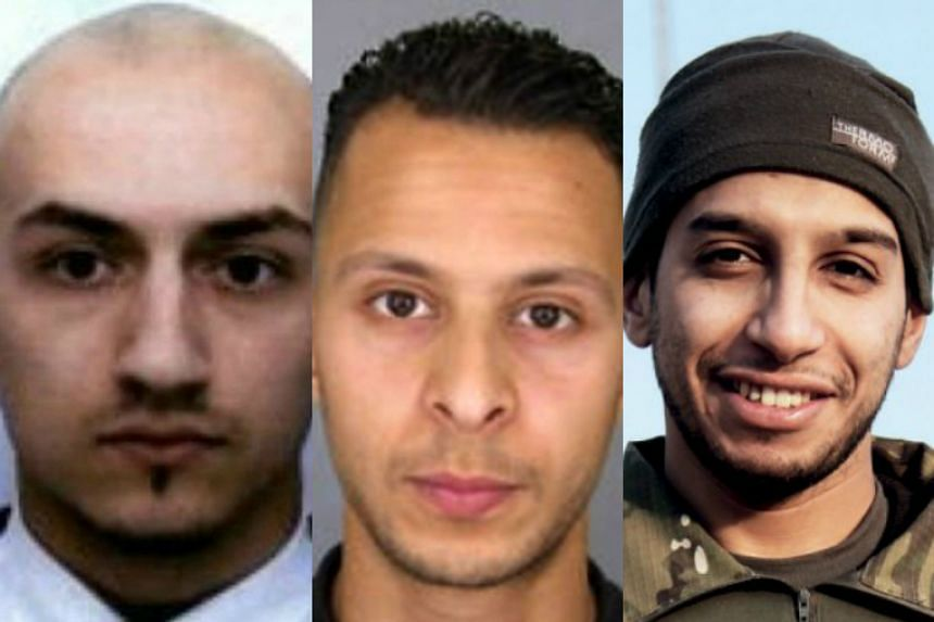 (From left) Samy Amimnour, Salah Abdeslam and Abdelhamid Abaaoud have been identified as three of the seven gunmen and suicide bombers whose bodies were found at three sites across Paris.