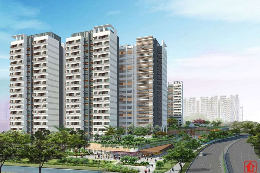 New Build-To-Order flats at Hougang RiverCourt in Hougang.