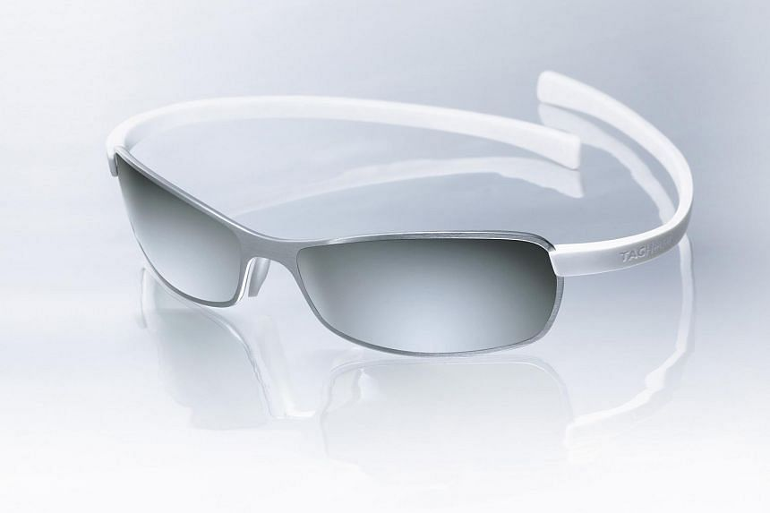 A pair of photochromic sports glasses.