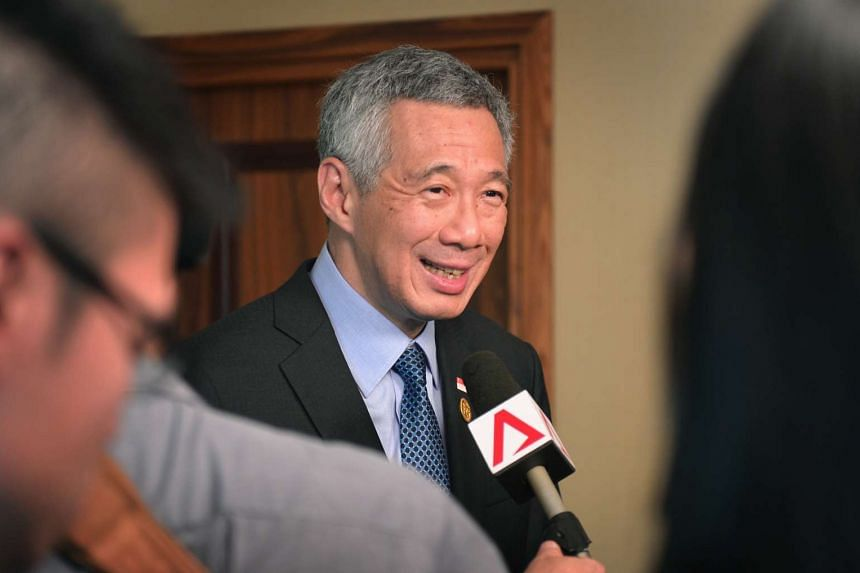 Prime Minister Lee Hsien Loong speaking to Singapore journalists at the conclusion of the G20 Summit in Antalya on Nov 16.