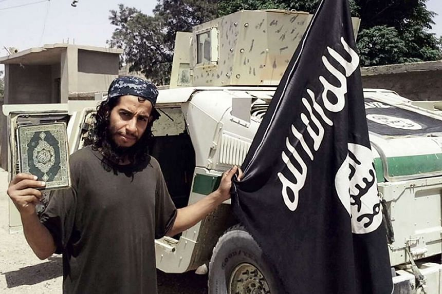 A photo from the February 2015 issue of  an ISIS magazine purportedly shows Belgian  militant Abdelhamid Abaaoud,