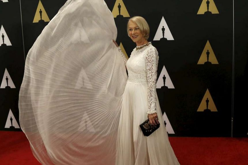 Actress Helen Mirren (above) at the Academy of Motion Picture Arts and Sciences Governors Awards, where director Spike Lee accepted an honorary Oscar last Saturday.