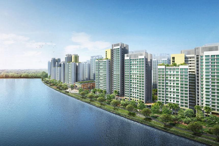 New Build-To-Order flats at Waterfront I and II @ Northshort in Punggol.