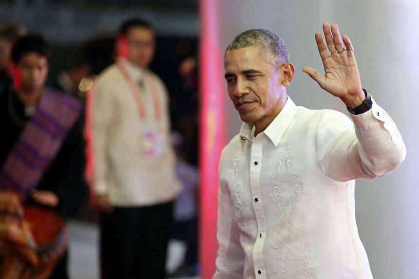 US President Barack Obama demanded China end artificial island building in the South China Sea.