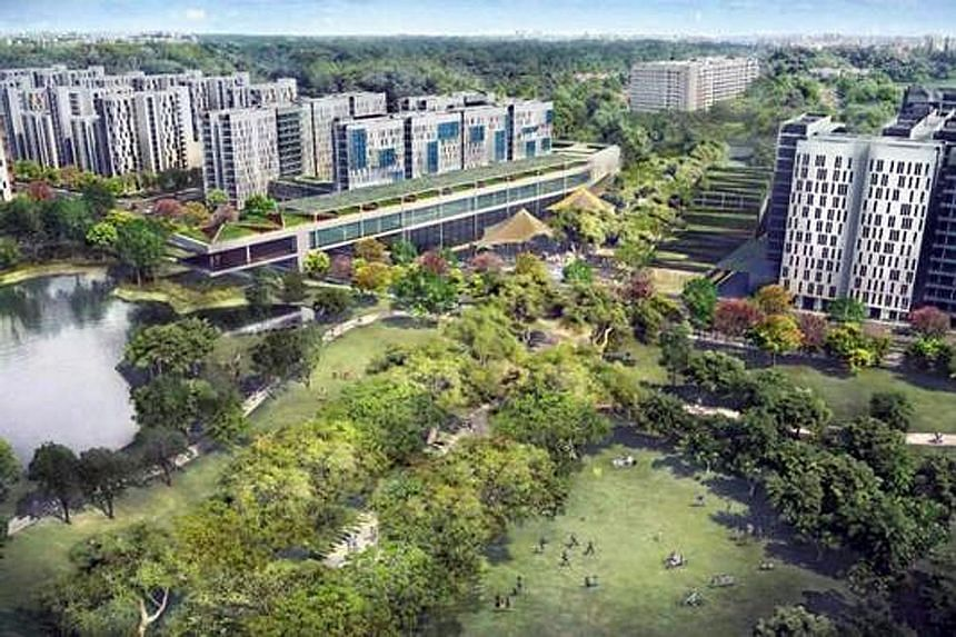 An artist's impression of the new Bidadari housing estate. The 2,139 flats across three Bidadari projects are the only units in a mature town in this Build-To-Order exercise.