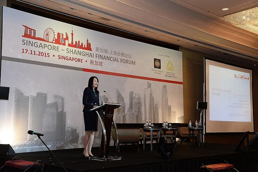 MAS deputy managing director Jacqueline Loh said there is great potential for Singapore to partner Shanghai to develop their respective financial centres.