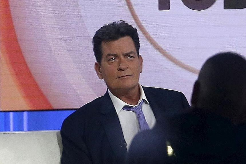 Charlie Sheen on the set of NBC's Today show before his interview. He disclosed that he had paid people millions for their silence.