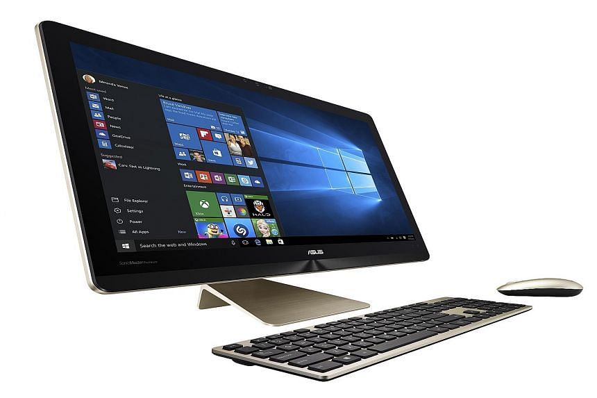 The Asus Zen AiO Pro looks good but plugging in a USB device can be a bother, especially as the display does not swivel.