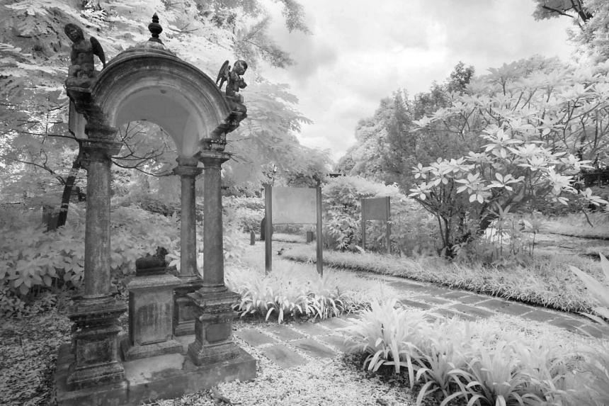 A memorial dedicated to Koona Vayloo Pillay, the father of Pakirisamy Pillay who developed the Sri Krishnan Temple at Waterloo Street, is a highlight in the Bidadari Garden.