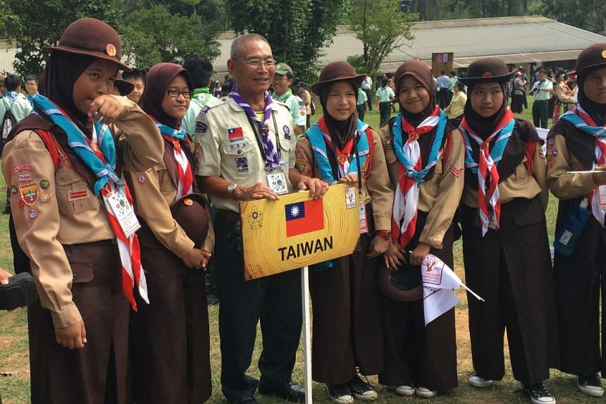 Scouts from the Indonesian contingent at the SG50 International Jamboree today.
