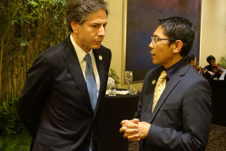 US Deputy Secretary of State Antony Blinken (far left) and Dr Mohamad Maliki Osman discussed the fight against terror, issues related to the South China Sea and the Trans Pacific Partnership.