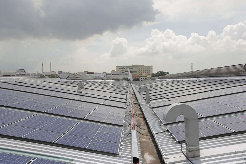 Asia Pacific Breweries Singapore is expected to reduce its yearly carbon emission by 1,500 tonnes with a new rooftop solar power system.