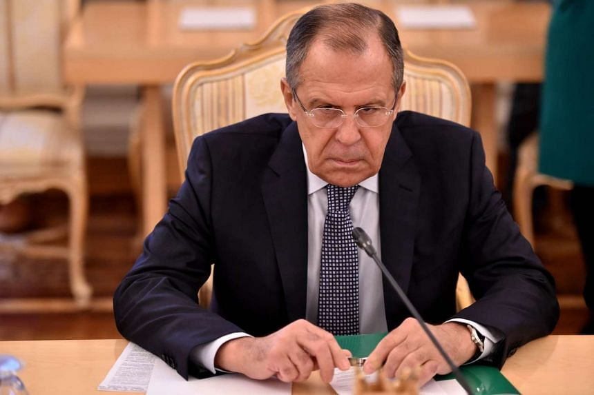 Russian Foreign Minister Sergei Lavrov during a meeting in Moscow on Nov 18, 2015.
